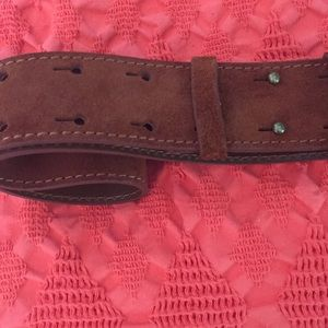 Accessories - Real leather simple boho brown belt size M